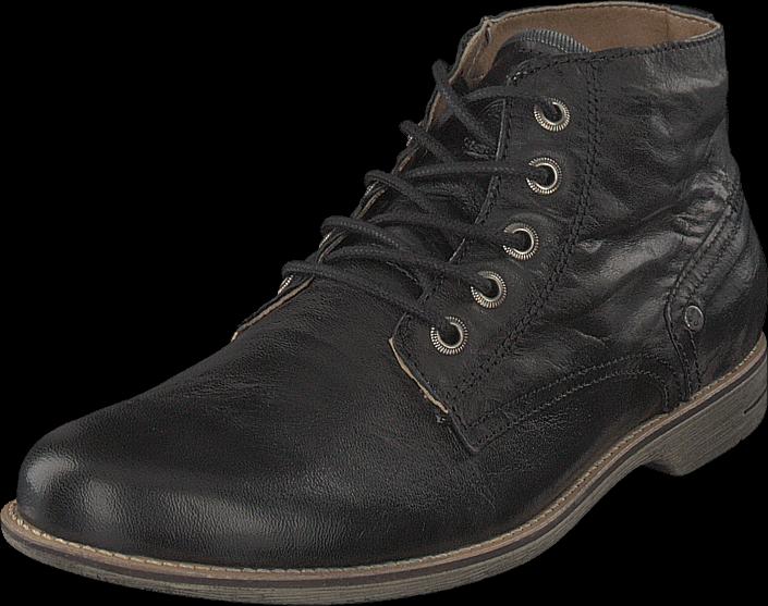 Kjøp Sneaky Steve Crasher Black Leather Svarte Sko Online