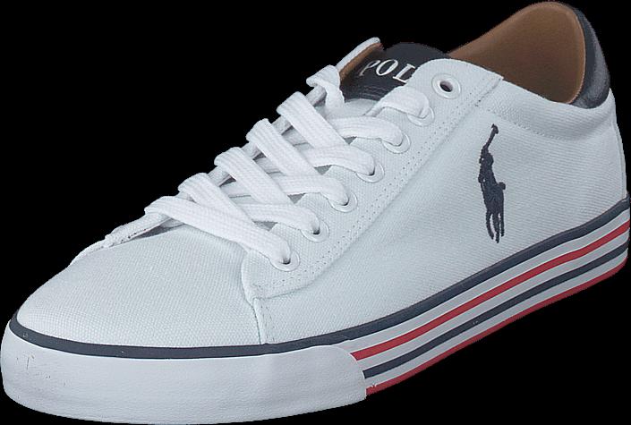 Kjøp Polo Ralph Lauren Harvey-ne Pure White/newport Navy Hvite Sko Online