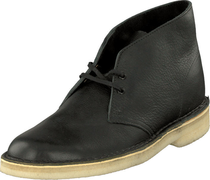 Clarks - Desert Boot Black Tumbled Leather