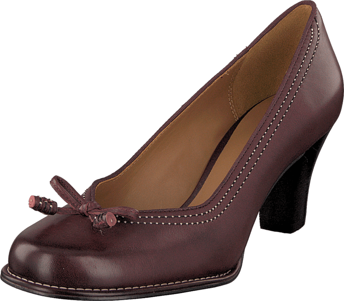 Clarks - Bombay Lights Burgundy Leather