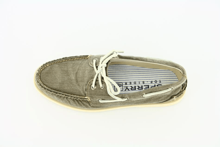 Sperry Topsider - 2-Eye Canvas/Olive salt washed