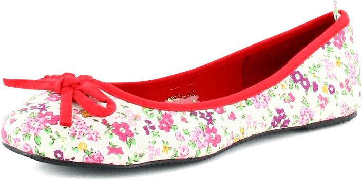 Donna Girl - Canvas Ballerina Blommor Red