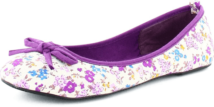 Donna Girl - Canvas Ballerina Blommor Lilac