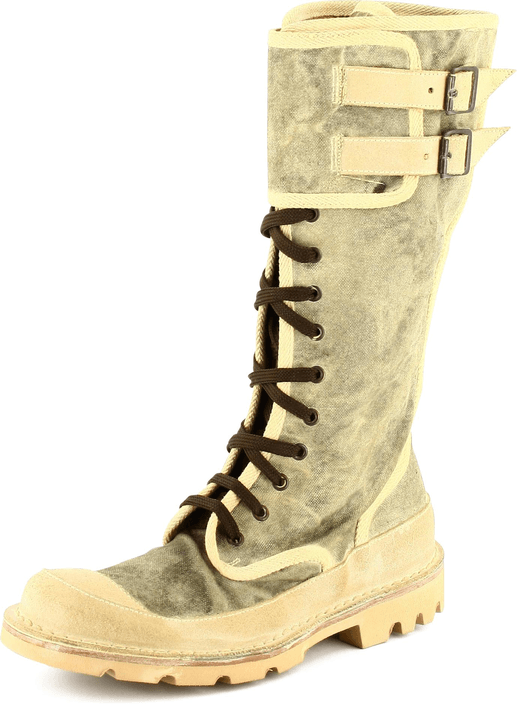 Moma - Military boots Grey textile