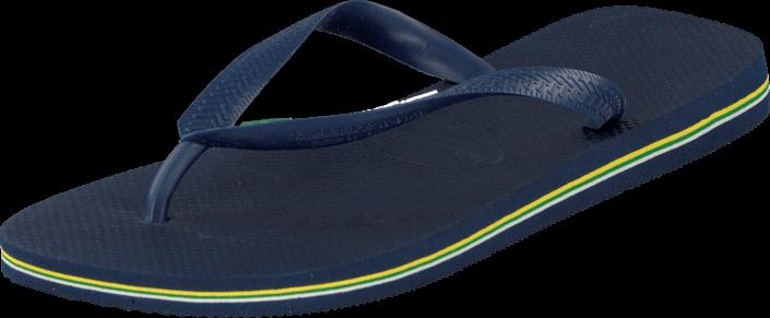 Footway SE - Havaianas Brasil Logo Navy Blue, Skor, Sandaler & Tofflor, Flip Flops, Blå, Unis 287.00