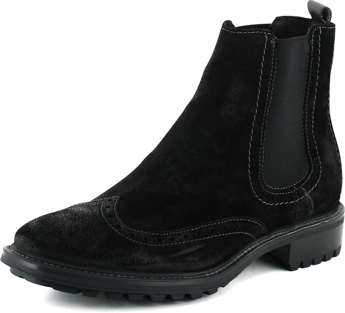 Marc O'Polo - Bootie Chelsea Black Waxed Suede
