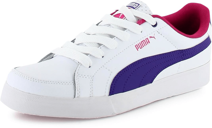 Puma - Court Point JR White/Raspberry