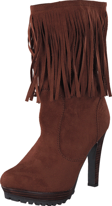 Lady CG - Kansas Long Fringe Boot Brown