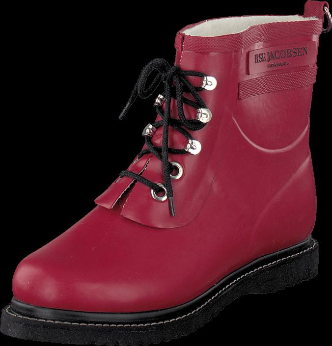 ilse-jacobsen-short-rubberboot-wine-kengaet-bootsit-laemminvuoriset-kengaet-punainen-naiset-35