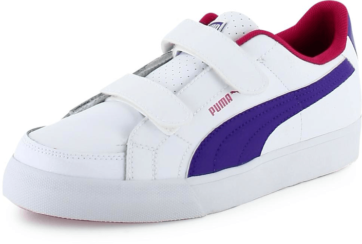 Puma - Court Point V Kids White/Raspberry