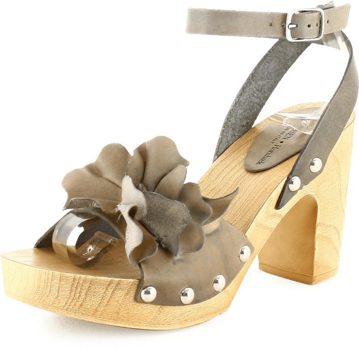 Ilse Jacobsen - Flower Leather Sandal Smoke