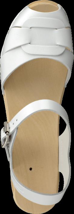 Swedish Hasbeens - Peep Toe High White