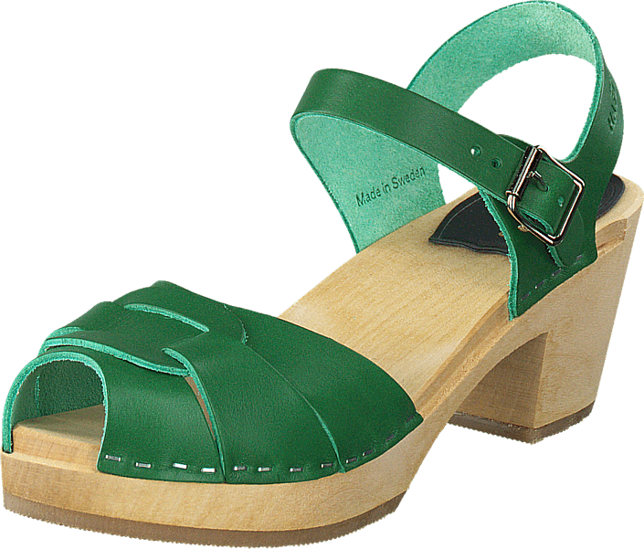 Swedish Hasbeens - Peep Toe High Strong Green