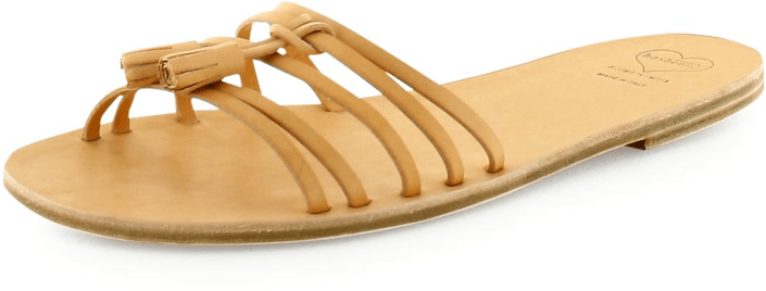 Swedish Hasbeens - Tassel Sandal Flat Nature