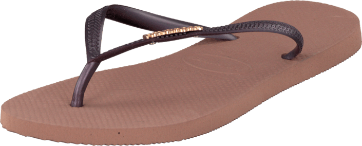 Havaianas - Slim Logo Metallic Crocus Rose