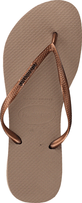Havaianas - Slim Logo Metallic Rose/Dark Copper