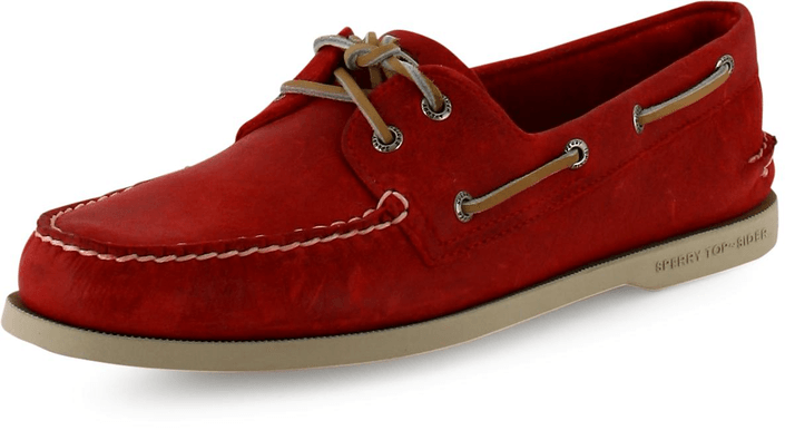 Sperry Topsider A/O 2-Eye Red Salt Washed