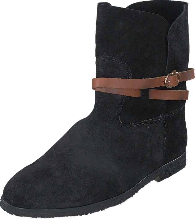 Black Lily - Racing Fur Boot Black
