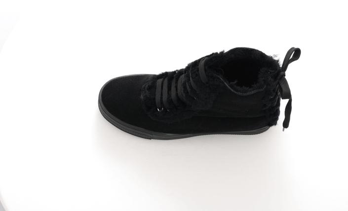 Fashion By C - Cozy fur boot Black
