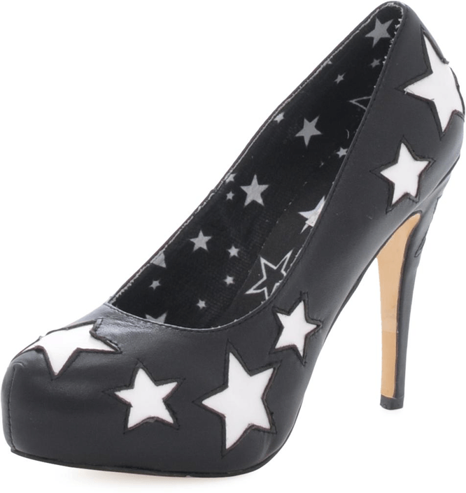 Fashion By C - Stars pump Black