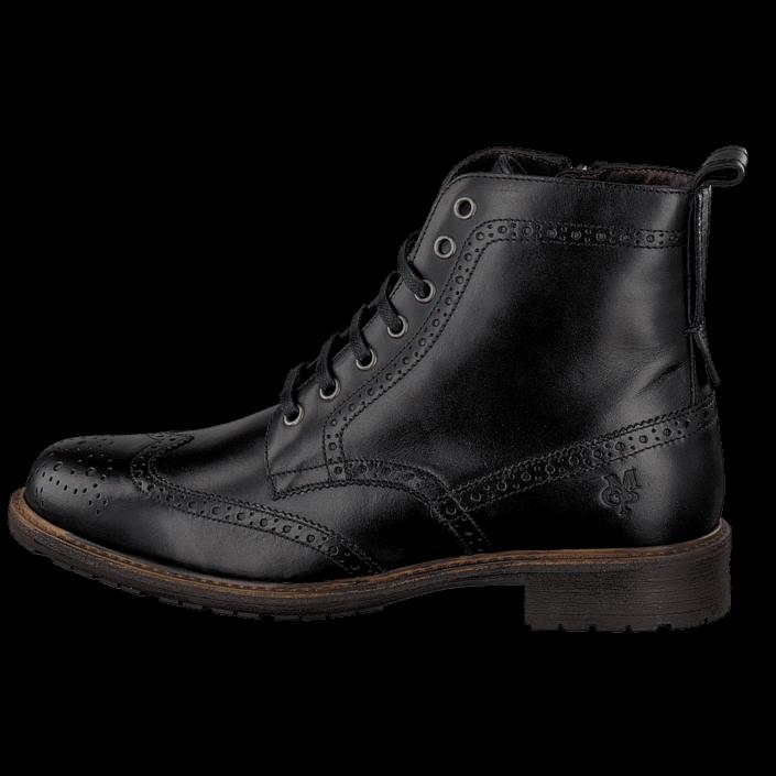 kj p marc o 39 polo lace flatheel bootie 990 black svarta sko online. Black Bedroom Furniture Sets. Home Design Ideas