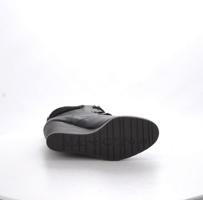 Marc O'Polo - Wedge Bootie Oily Calf Printed Black