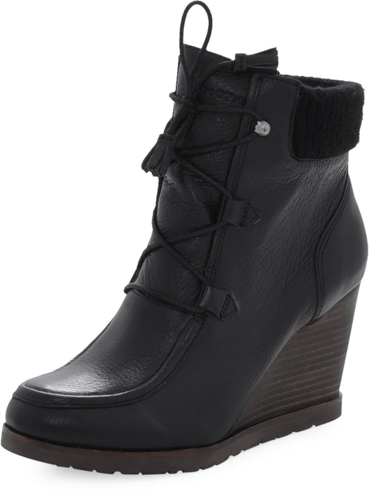Marc O'Polo - Wedge Bootie Oily Calf Printed Black