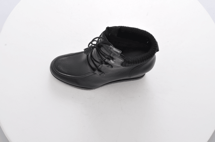 k p marc o 39 polo wedge bootie oily calf printed black svarta skor online. Black Bedroom Furniture Sets. Home Design Ideas