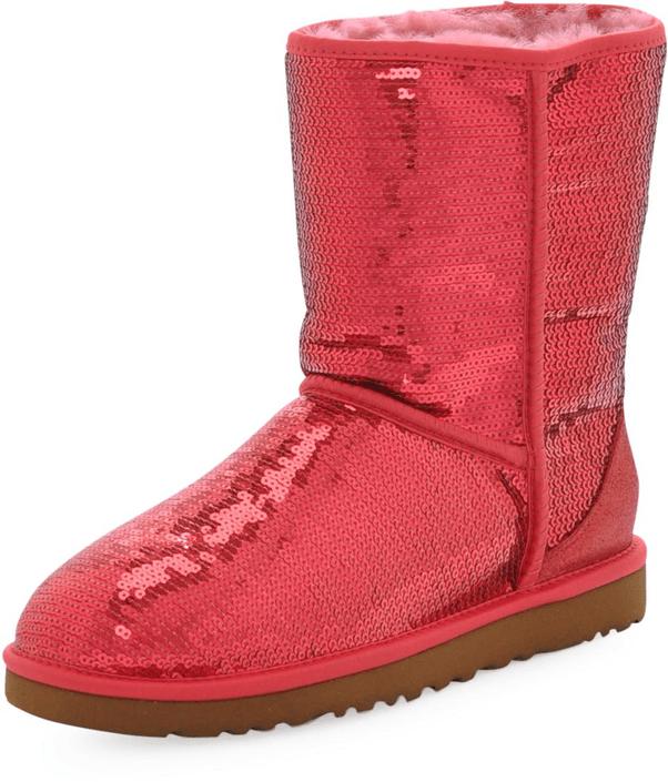 ugg boots Classic short röd