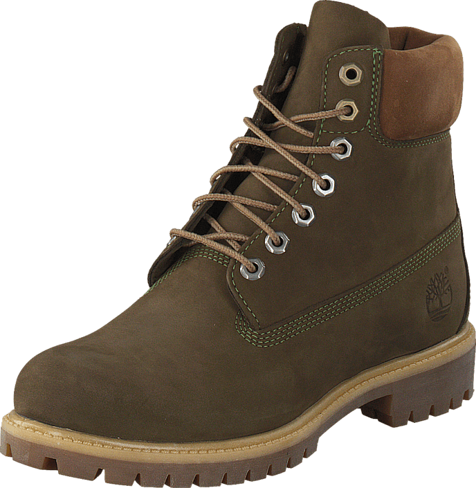 Timberland 6 In Premium Dark Green Nubuck