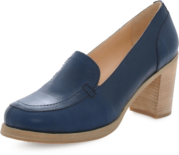 Swedish Hasbeens - Chunky Loafer Dark Blue
