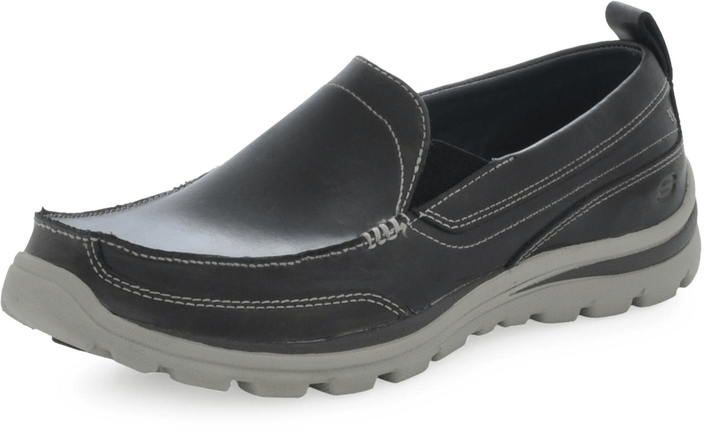 Skechers - Moc Toe - Slip on CHAR - grå