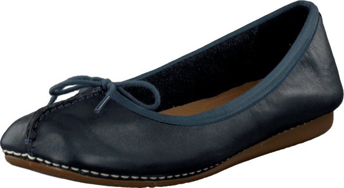 Clarks Freckle Ice Navy Leather