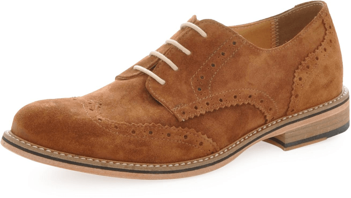 Knowledge Cotton Apparel - British Brogue Shoe Buckthorn Brown