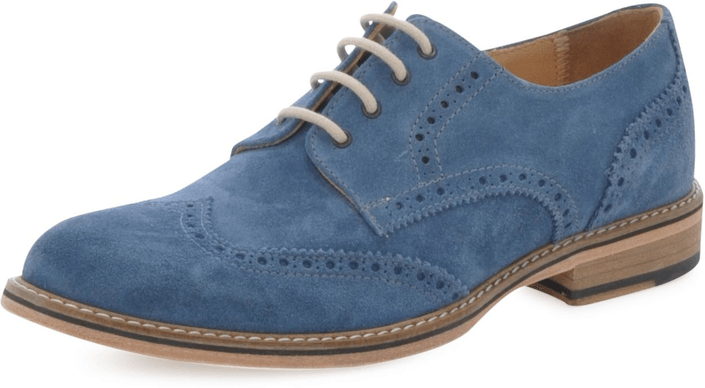 Knowledge Cotton Apparel - British Brogue Shoe Estate Blue
