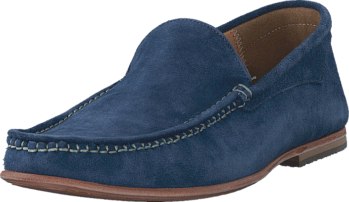 Knowledge Cotton Apparel - Slipper Moccasin Estate Blue