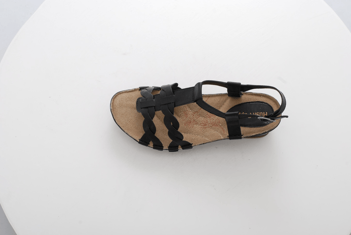 Hush Puppies - MALTA QTR STRAP BLACK