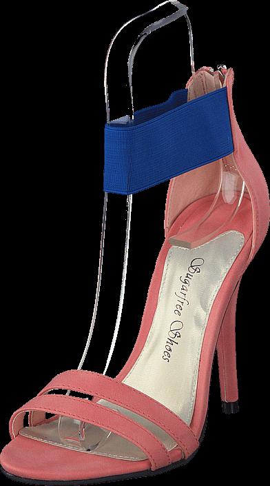 Footway SE - Sugarfree Shoes Katinka Peach, Skor, Klackskor, Sandaletter, Rosa, Dam, 36 397.00