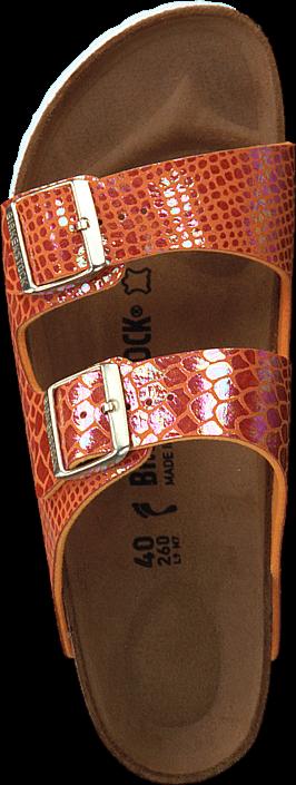 Birkenstock - Arizona Slim Shiny Snake Orange
