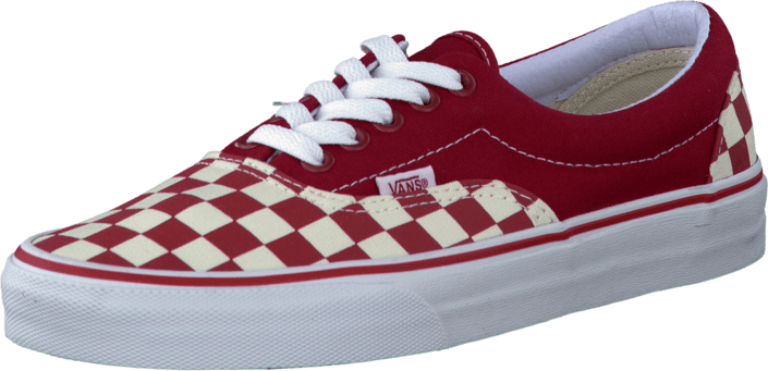 Vans U Era (Checkerboard) Red/Natural