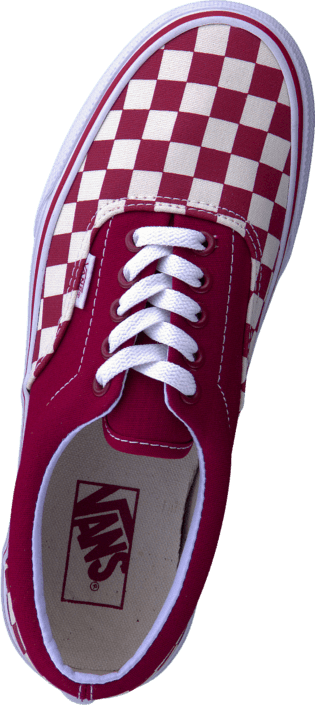 Vans - U Era (Checkerboard) Red/Natural