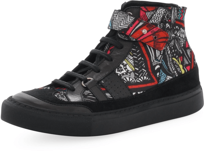 V Ave Shoe Repair - Snap Graphic Sneaker Wonderland Print
