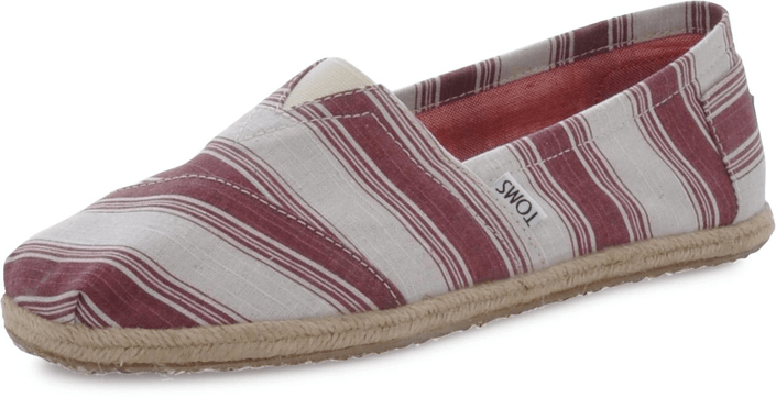 Toms - Classics Navy Umbrella Stripe Shiraz
