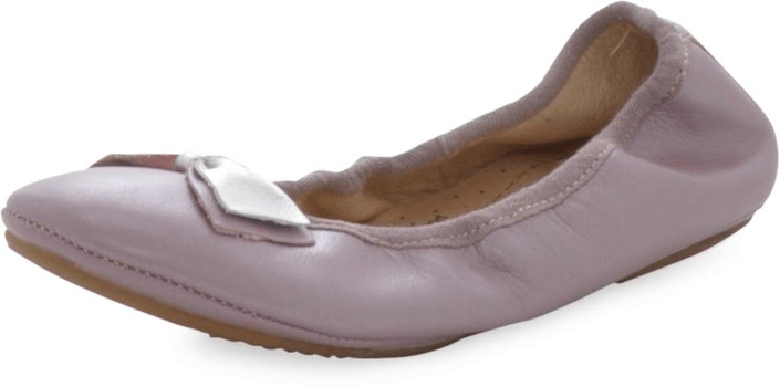 Old Soles - Rusty Bow Ballet Rosa Metallic/ Silver