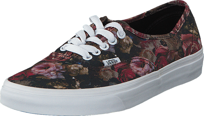 vans authentic floral black