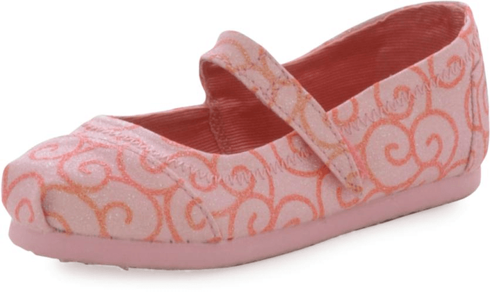 Toms - Mary Jane Pink Swirl Pattern