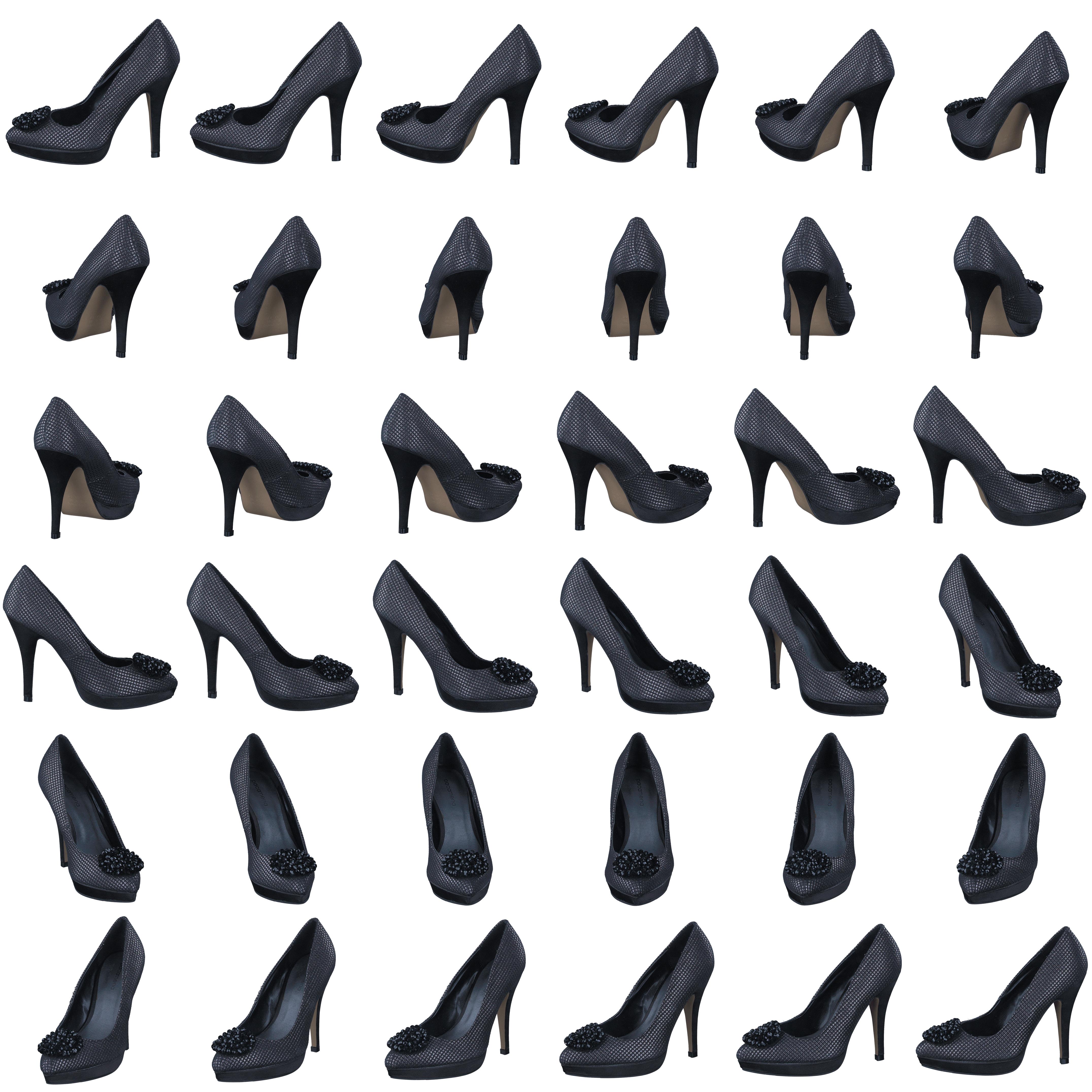 1to3 V13083, Schuhe, Absatzschuhe, Absatzschuhe, Blau, Grau, Female, 36