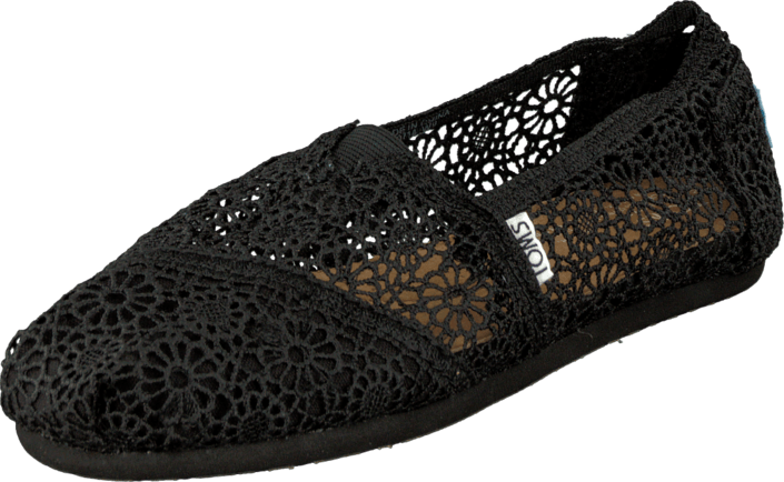 Toms - Seasonal Classic Black Crochet