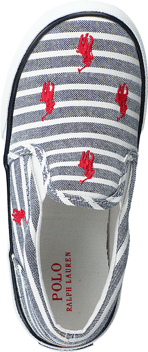 Ralph Lauren Junior - Bal Harbour Repeat Navy Bengal Stripe Canvas Red