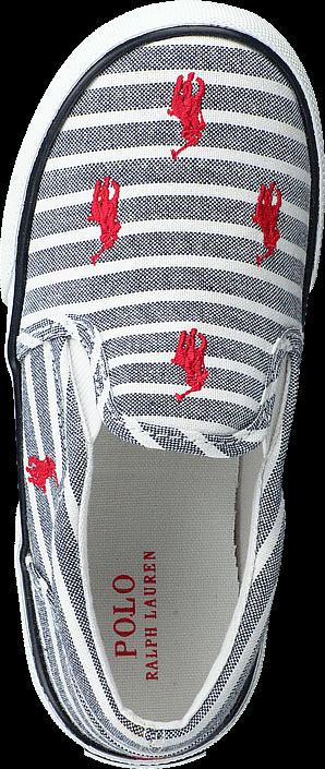 Ralph Lauren Junior - Bal Harbour Repeat Navy Bengal Stripe Canvas Red
